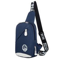 Wholesale Wholesale Outdoor Vinyl - Factory wholesale men chest pack girls Leisure Canvas Bag Shoulder Bag Backpack Bag chest pockets of outdoor sports