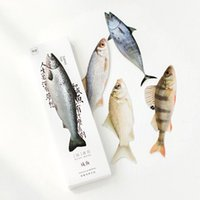 Wholesale Wholesale Fishing Books - Wholesale- 30 Pcs box Creative Re-energized Fish Bookmarks Beautifully Shaped Book Marks Paper Clip Office School Gifts