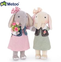Wholesale Metoo Stuff Toys - Lovely Metoo Plush Doll 16Inches 40CM Cute Metoo Elephant Plush Stuffed Toy Girls Lovely Gift 4PCS Lot