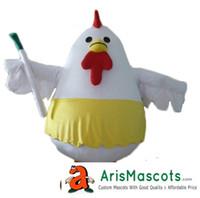 ingrosso costumi personalizzati pollo-100% foto reali Lovely Chicken Mascot Costume Out Custom Mascots Animal per la pubblicità della squadra mascotte Character Design Deguisement Masco