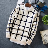 Wholesale TG6212 Cheap new Checked sweater thickening male han edition men s sweater knit the autumn autumn fashion
