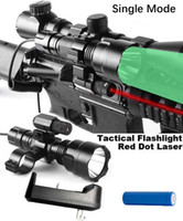 Wholesale Tactical Flashlight Remote Pressure Switch - Wenxy Tactical Rifle Red Dot Sight with Cree Flashlight Tactical Scope Mount + Remote Pressure Switch + Battery for Huntin