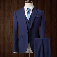 Wholesale Trajes Novio Tuxedo - Wholesale- 2016 New Man Plaid Suit Man Slim Double Breasted Wedding Groom Suit with Pants Tuxedo Custom Homme Trajes De Novio Hombre