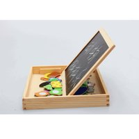Wholesale Writing Magnetic Boards Children - toys naruto Wooden Multifunction Children Animal Puzzle Writing Magnetic Drawing Board Blackboard Learning Education Toys For Kids