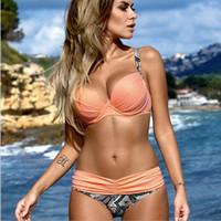 Wholesale M Brackets - Hot Latest Sexy Bikini Women Fashion Swimming Suit Beach Bikini with Bracket Gather NOR Two Sets