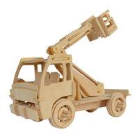 Wholesale Construction Model Kits - MICHLEY 1pc 3D Wooden Construction Jigsw Puzzle Kid Educational Woodcraft DIY Kit Toy Simulation Models Elevtor 1T0046-shengjiangji