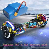 Wholesale Lithium Electric Car Batteries - Electric Drift car balanced car for Samsung 36V 4.4A 18650 Power battery rechargeable lithium battery pack for two weels Shilly car