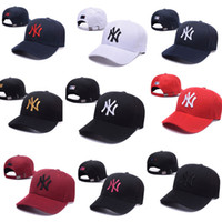 Wholesale Acrylic Cream - 36 colors NY men women MLB baseball cap snapback Hip hop Adjustable top casquette hat sport Dad hats topi High-quality unisex Yankees caps