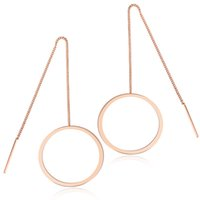 kalp şeklinde halka küpeleri toptan satış-18K Altın Kaplama Kalp Şekilli Hoop Küpeler Paslanmaz Çelik