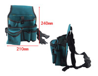 Wholesale Electrician Kit - Wholesale- 2017 Hot Hardware Mechanic's Electrician Waterproof Canvas Tool Bag Belt Utility Kit Pocket Pouch Organizer Free Shipping