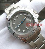 ingrosso orologio originale-Nuovo orologio di marca di lusso 2813 orologio da uomo Movimento automatico quadrante grigio in acciaio inossidabile orologi meccanici autoventili AAA Original Clasp Men Wristwatch