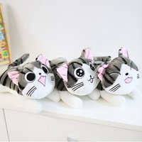 Wholesale Cheese Cat Toy - Wholesale- Christmas Birthday Gifts Japan Anime Figure Cheese Cat Plush Stuffed Toy Doll Pillow Cushion 20cm 1pcs