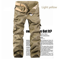 Wholesale Black Tactical Mens Trousers - Mens Military Army Combat Cotton Cargo Pants tactical Pants Multi Pocket Outdoor straight Casual trousers Plus Size 28-42