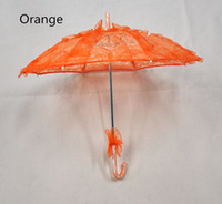 Wholesale Wholesale Yellow Umbrellas - DIY Mini Umbrella Lace Photography Prop Embroidered Parasol Fashion Style Girls Bridal Flower Wedding Party Sun Umbrellas