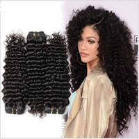 Wholesale Natural 1b Brazilian Wave - 8A Quality Factory Supply Brazilian Hair 3 bundles of Deep Wave Bundles Deep Curly Weave Human Hair Extensions