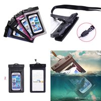 Universal Sealed Waterproof Armband Bag Malas de telefone móvel para iPhone 6 6s / Plus Underwater Touch Screen Cell Phone Pack Dry Bags