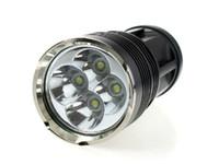 Wholesale Sky Lanterns Led Lights - SKY RAY 8000 Lumens 4T6 4 x CREE XM-L XML T6 LED Flashlight Head Torch 18650 Lanterna Lantern Flash Light By 4*18650