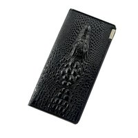 Wholesale Alligator Heads - Womens Alligator Wallets and Purses 3D Designer Crocodile Head Cow PU Leather Wallet Card Holder