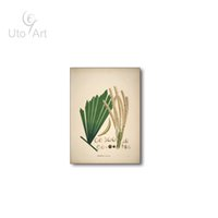 Wholesale Painted Leaf - Modern Nordic Vintage Leaf Painting Retro Plant Oil Painting Printed By Number For Living Room Home Decoration DIY Framed