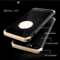 Wholesale Iphone Aluminum Border Case - Metal Aluminum Border Frosted PC Back Cover Case For Apple iPhone 5 5S SE Mobile Phone Coverr