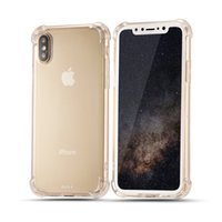 Wholesale Handbag Transparent Crystal - Air Cushion Corners Shockproof Cover For iPhone X 8 7 6 6S Plus SE 5 5S Soft TPU Case Transparent Clear Crystal Back Cases