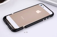 Wholesale Iphone S Aluminum Cases - Two-stage Arc Edge Aluminum Bumper Slim Luxury Metal Frame Case for iPhone 5 s 5s se Phone Brand Protective Cover Coque