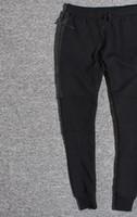 hombres deportes capri al por mayor-Comercio al por mayor Tech Fleece Sport Pants Space Cotton Pantalones Hombre Chándal Pantalones Hombre Jogger Tech Fleece Camo Pantalón de running 2 colores