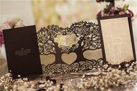 Wholesale Cutout Invitations - Wholesale- Free Printable Luxury Cutout Love Tree Wedding Invitations Cards With Envelope Laser Cut Hollowing Invitation Cards