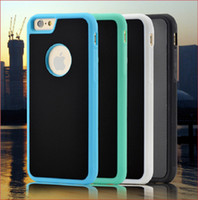 Wholesale Gravity Anti - Anti Gravity Case Selfie Hybird TPU PC Sticky Antigravity Magical Back Cover For iPhone 7 6 6S Plus SE 5 5S Samsung Note 5 S6 S7 Edge 10pcs