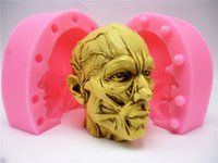 Wholesale 3d Silicone Mold Chocolate - 3D anatomy avatar silicone fondant cake mold silicone chocolate mold soap soap candle mold tools Free shipping