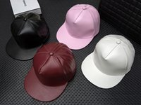 Wholesale Retro Sports Hats - 4 colors PU Leather Hats Graffiti Adjustable Snapback Baseball Cap Retro Hat Hiphop Sports Lovers Shade Hats High Quality DHL Shipping