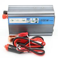 inversor de onda sinusoidal de 24v al por mayor-Al por mayor-Libre envío 1200 W 1200 VATIO modificado Sine Wave Car Boat 12V / 24V DC En 220V AC Out Power Inverter