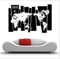 Wholesale Idea Pattern - PVC Creative Ideas 75x105cm map pattern children's room living room bedroom TV sofa background decoration sticker