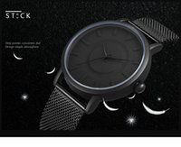 Wholesale Christmas Mesh Stocking - 2017 stock Brand Men Watch Top Brand Luxury Business Famous Quartz Watch Steel Mesh Women Watches with male watch Relogio Masculino