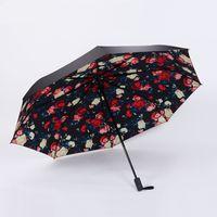 Wholesale Sunscreen Pencil - Go out essential creative folding female sun umbrella lemon sunny umbrella black rubber sunscreen UV umbrella