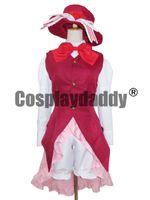 rin kagamine cosplay costume venda por atacado-Vocaloid Kagamine Rin Vestido Vermelho Alice em Cosplay Musicland Costume