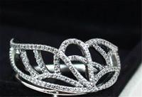 bijoux à papillon achat en gros de-Femmes Mode Anneau 100% S925 En Argent Sterling Européenne Pandora Style Charme Bijoux Papillon Aile Bague avec Clair Cz
