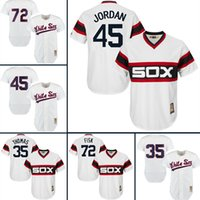 09cbd85c8 ... 2017 mlb Chicago White Sox baseball jerseys 45 Jordan Carlton Fisk 35  Frank Thomas Michael Majestic .