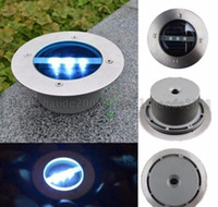 Wholesale Garden Solar Brick - 3 LED Outdoor Solar Power light Stainless Brick Deck Landscape floodlight Buried Lamp Path Way Garden Path Light underground Lamp MYY