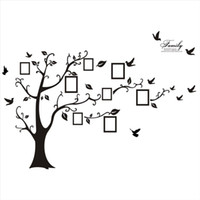 ingrosso alberi-Moda Nuovo adesivo moderno 3D sul muro Arte nera Cornice per foto Memory Tree Adesivi murali Decorazioni per la casa Albero genealogico Adesivo
