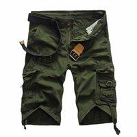 Wholesale Men S Boutique Wholesale - Wholesale- 2017summer new mens boutique printed cotton camouflage leisure shorts   Male boutique pure color Loose big size beach shorts
