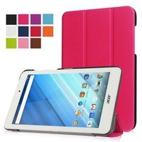 "Wholesale Cover Tablet Acer Iconia B1 - Ultra Slim Protective leather cover stand case magnet Sleep Wake Skin for Acer Iconia One 8 B1-850 8"" tablet"