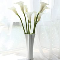 Wholesale lily table for sale - Group buy Home fashion quot large calla lily artificial flowers overall floral for living room table plants wedding home decoration DHL