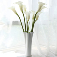 "Wholesale Wedding Table Red Flower Decorations - Home fashion 24.8"" large calla lily artificial flowers overall floral for living room table plants wedding home decoration DHL free shipping"