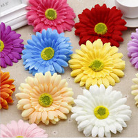 Wholesale Artificial Chrysanthemums - Silk Daisy Artificial Flowers For Wedding Home Decoration 10cm Chrysanthemum Mariage Flores Decorative Flowers Plants 9 Color