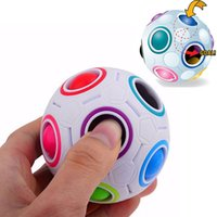 Magic Ball Arcobaleno Puzzleballs Childrens3d Intelligencegames Magic Cubesfootball Fidget Giocattoli Puzzlespeed Divertimento Giftwith Box Factory Direct