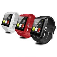 teléfono s4 gratis al por mayor-U8 Smart Watch Bluetooth Relojes de pulsera Altimeter Smartwatch para Apple iPhone 6 5S Samsung S4 S5 Nota Android HTC teléfonos Smartphones DHL Gratis