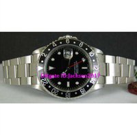 Wholesale Buckle Style Rings - Christmas gift 8 style Luxury Stainless GMT II black Ceramic bezel 116710 Stainless steel watch Black ceramic ring black dial red needle