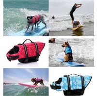 Wholesale Life Vest Wholesale - Dog Life Jacket Breathable Pet Dog Puppy Swimwear Safety Clothing Adjustable Boating Life Vest Size 20pcv