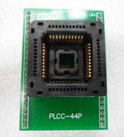 enchufes yamaichi al por mayor-PLCC44pin ti DIP44 adaptador Yamaichi IC120-0444-306 ic socket de prueba con PCB bordo quemadura en el zócalo